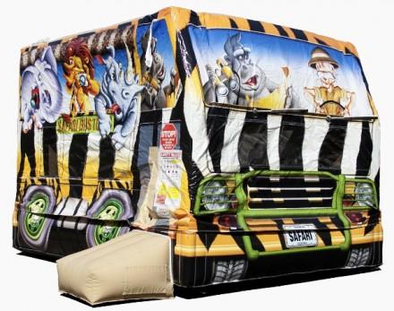 Nafukovací hrad Safari Bus